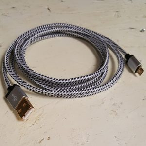 The material for this cable is woven and braided which is extra resilient.